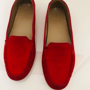 Cole Haan red loafers 8B